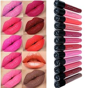 SHERUI 10pc Waterproof Long Lasting Matte Lip Gloss Lipstick Lipgloss Cosmetic