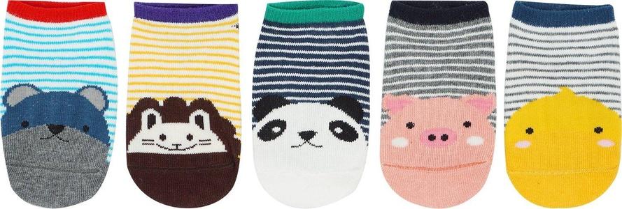 Bienvenu 6 Paris Baby Cotton Animal Non-Skid Toddler Socks,M