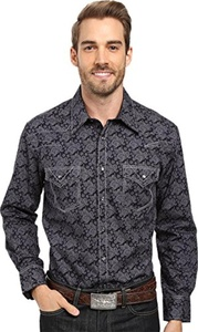 Rock and Roll Cowboy Men's Long Sleeve Snap B2S8413