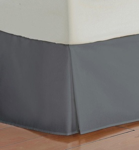 Bedskirt 450 TC DARK GRAY King Size Bed-Skirt with 14