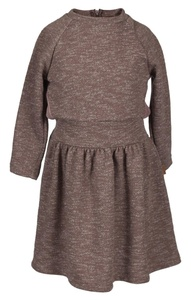 Girls Beige Taupe Knitted Dress Girl Winter Knit Children 33-G14-12 (7)