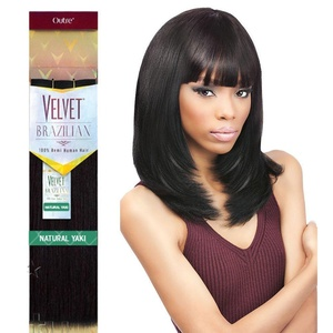 Outre Remy Human Hair Weave Velvet Brazilian Natural Yaki (16