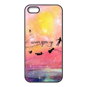 Never Grow Up iPhone 5 cases,iPhone 5s cases,Custom TPU Phonecases for iPhone 5,iPhone 5s