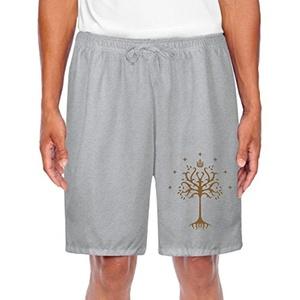 Men's Athletic White Tree Of Gondor Flag Sports Joggers Shorts