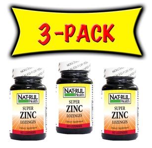 Nat-rul Health Zinc Super Lozenges 60 Lozenges - 3 PACK