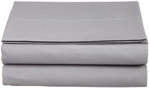 LUXURY Queen Flat Sheet Brushed Microfiber QUEEN GRAY