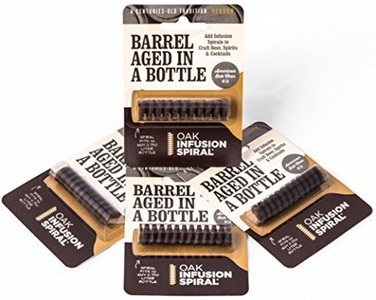 4 Pack - Barrel Aged in a Bottle Oak Infusion Spiral - Barrel Age Whiskey Gin Rum Wine Beer by Oak Infusion Spiral