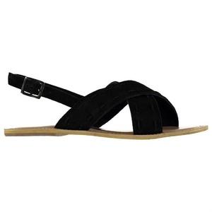 Ladies Firetrap Coal Cross Over Sandals Black Suede (UK 6 / US 8.5)
