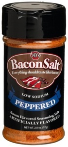 J&D's Bacon Salt, Peppered, 2 Ounce (Pack of 3) by J & D Foods