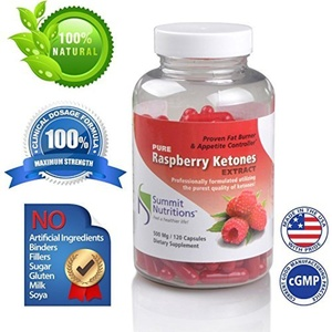 Raspberry Ketones Miracle Fat Burner and 100 % Purest Professional Formula for Natural Weight Loss, 120 Count by Summit Nutritions