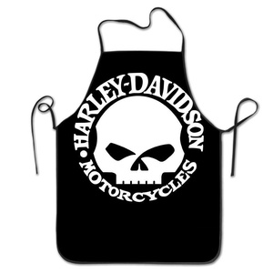 Apron Chef Kitchen Cooking Apron Bib Harley Davidson Skull