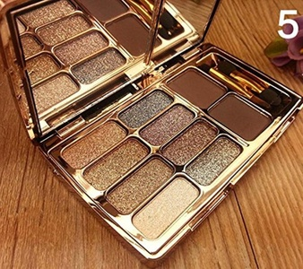 8 Colors Makeup Eye Shadow Palette Shimmer + 2 Colors Eyebrow Powder Cream Cosmetic Total 10 Color
