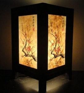 Thai Handmade Japanese Cherry Blossom Tree Art Bedside Desk Table Lamp