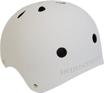 Industrial Flat White Skateboard Helmet - X-Large / 23 - 24 by Industrial