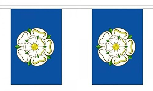 Yorkshire (New) Bunting 9M Metre Length With 30 Flags 9X6 100% Woven Polyester by Yorkshire New