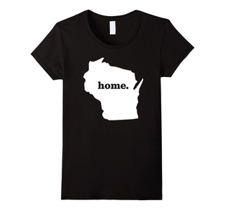 Women's The Wisconsin Home Tshirt - Wisconsin Home State Love Heart XL Black