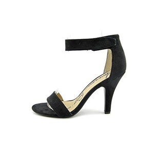 American Rag Dylan Faux Suede Sandals, Black, Size 6.0