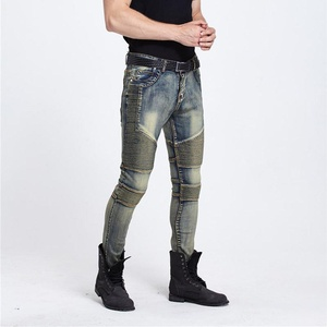 Mens Punk Hipster Frayed Destroyed Washed Straight Denim Jeans Pants Street Wear