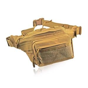 MONOJOYFanny Pack Waist Bag Canvas Sling Shoulder Bag Chest Pack Crossbody Sports Bag Sack Satchel Fit For Outdoor,Hiking (Brown)
