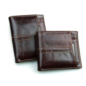 Danjue Genuine Leather Wallets Short Purse for Men Money Card Holder