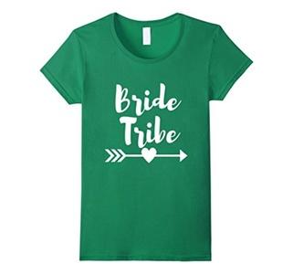 Women's Bride Tribe Bachelorette Party Wedding Shirt XL Kelly Green