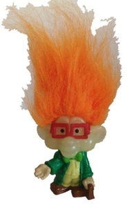Glow in the Dark Troll Burger King Rugrat IQ with Orange Hair by Glow In The Dark