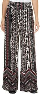 French Laundry Womens Tribal Print Mix Pants Medium Red/multi