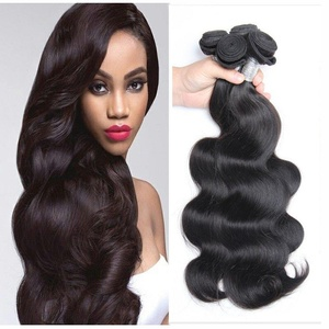 7A Brazilian Virgin Human Hair Body Weave 3 Bundles Deal Body Wave Hair Weft Extensions Natural Color(18 20 22)