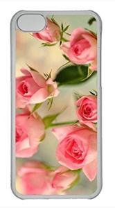 iPhone 5c case, Cute Cute Pink Roses iPhone 5c Cover, iPhone 5c Cases, Hard Clear iPhone 5c Covers