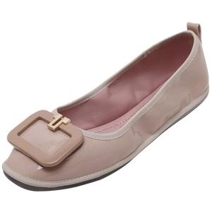 D2C Beauty Women's Square Toe Slip-on Flat Shoes - Apricot 8 M US