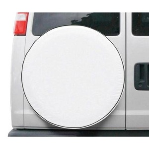 Classic Spare Tire Cover for RVs, Vans, or Trucks- Model 9, White