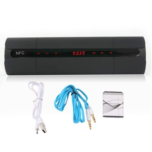 Wireless Bluetooth NFC Stereo Speaker LCD with FM radio for Smartphone Tablet PC