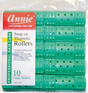 *NEW*Hair Rollers PROFESSIONAL SNAP ON MAGNETIC (LARGE) All Sizes - Set Hair Dry or damp by Annie