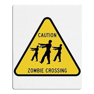 Caution Zombie Crossing Beach Bath Towel Children White