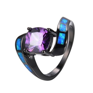FT-Ring Amethyst Ocean Blue Fire Opal Jewelry Wedding Ring For Women Engagement Wedding Rings (8)