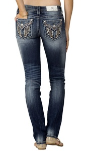Miss Me MP8832T Mid Rise Medium Wash Straight Denim (28)