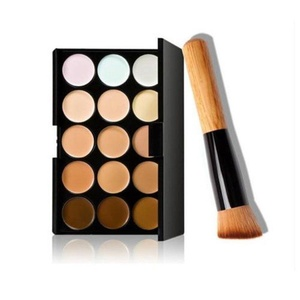 GUAngqi 15 Colors Makeup Concealer Palette Cream Contour Face Neutral Palette Box Beauty