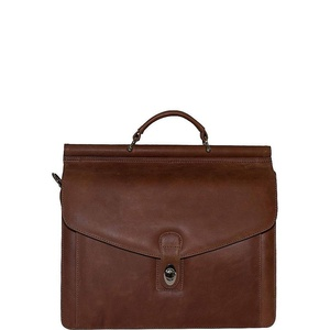 Vicenzo Leather Rushmore Full Grain Leather Briefcase