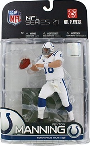McFarlane Toys NFL Sports Picks Series 21 2009 Wave 2 Action Figure Peyton Manning (Indianapolis Colts) White Jersey Variant by McFarlane Toys