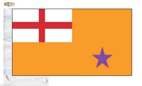 Northern Ireland Orange Order Small Courtesy Boat Flag - Roped & Toggle - 45cm x 22cm (1/2 Yard)