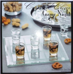 Crystal Clear Game Night - Tic-Tac-Toe Shot Glass by Crystal Clear