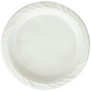 Blue Sky 100 Count Disposable Plastic Plates, 6-Inch, White by Blue Sky