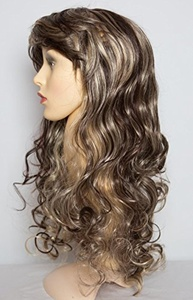 22 Ladies Full Length Long WIG Clip In Hair CURLY Dark Brown/Blonde Mix #4/613 by Elegant Hair