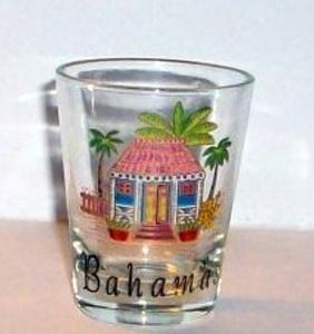 Bahama Shot Glass Vacation, Holiday Office Gift Secret Santa