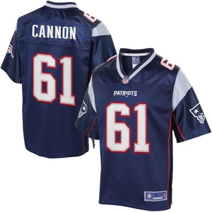 Marcus Cannons 61 Football Mens Color Jersey Navy Blue Size M(40)