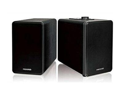 Microlab H21 Bluetooth Wireless Speaker 50 Hz-20 kHz Wooden Cabinets Black NEW