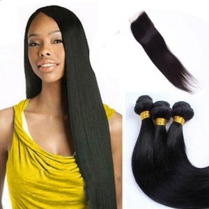 Baofu Hair Silky Straight Mixed Of 8-26 inch Natural Black Color Remy Brazilian Straight Human Hair (14