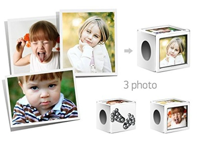 Creationtop Personalized fits Pandora charm with your kids photos (silver plated)