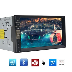 EinCar Linux MP5 Player GPS System with 7 inch Capacitive Multi-touch Screen Double 2 Din Car Stereo Video Audio in Dash Autoradio Bluetooth Radio Car Deck GPS Navigation Headunit