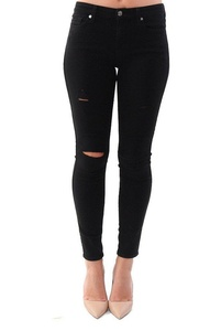 7 For All Mankind Denim Jeans B(air) Ankle Skinny in Black - Black - 25